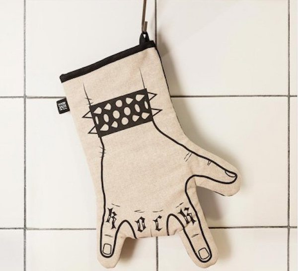 Rock Oven Mitt – With a Snap Button to Open Your Hand