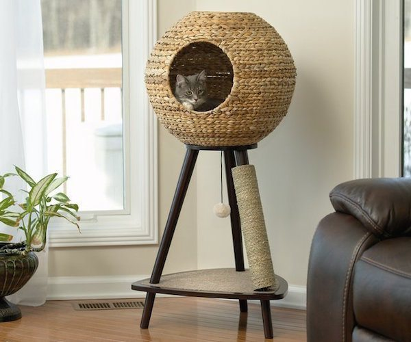 Sphere+Cat+Tower+%26%238211%3B+With+A+Comfy+Interior+Cushion