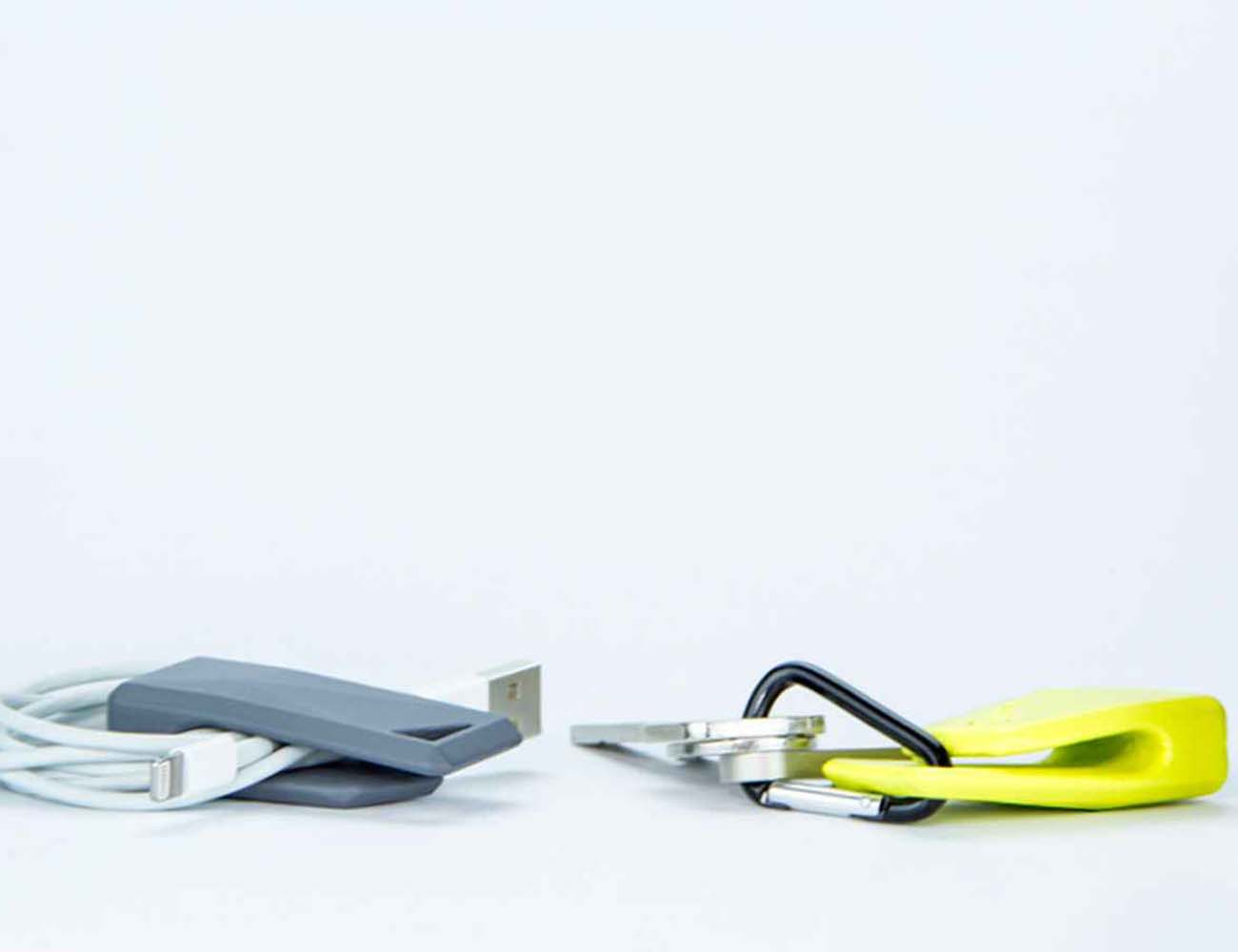 Stikey – Portable Magnetic Stand And Cable Tidy, On Your Keys!