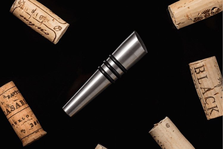 The Taper: Soapstone and Metal Wine Stoppers