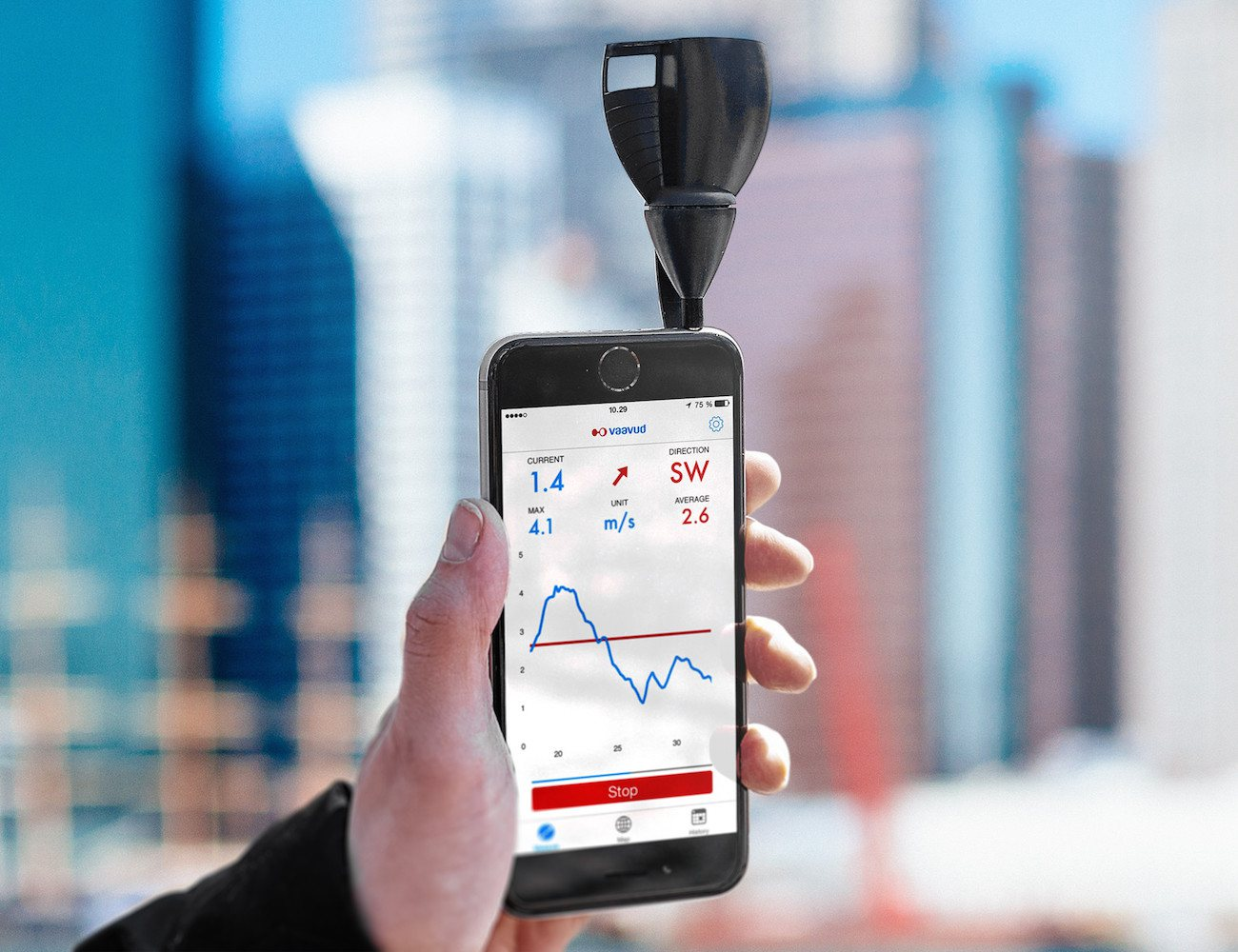 Vaavud+V2+Smartphone+Wind+Meter