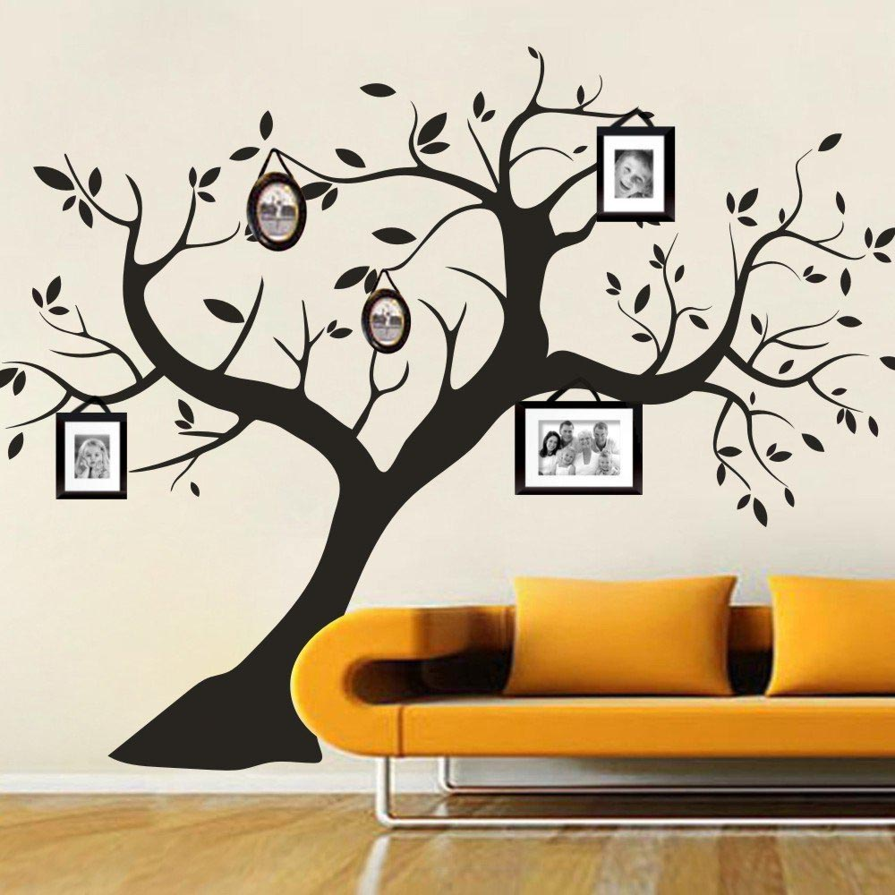 Simple Winter Trees Wall Stickers