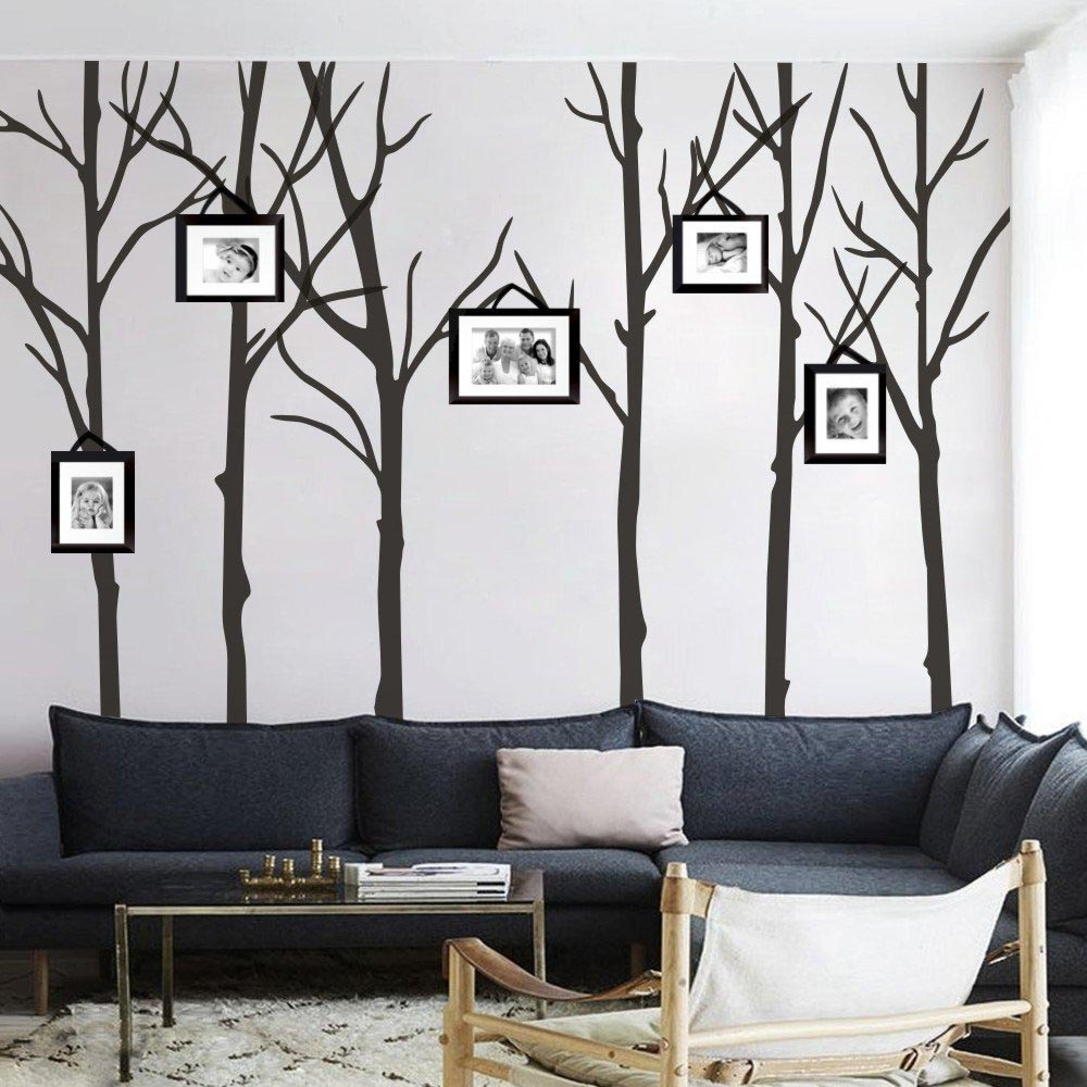 Vintage  Winter Trees Wall Stickers