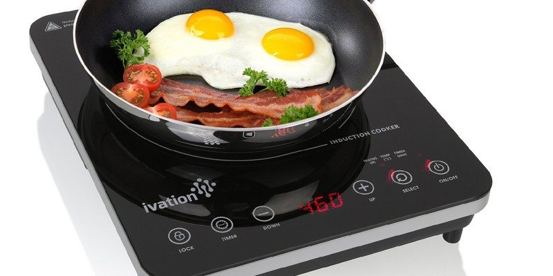 Ivation Induction Cooktop with full glass top