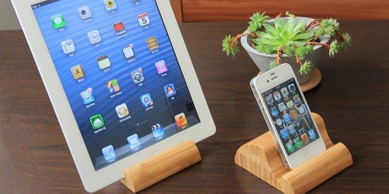Bamboo Phone And Tablet Stand