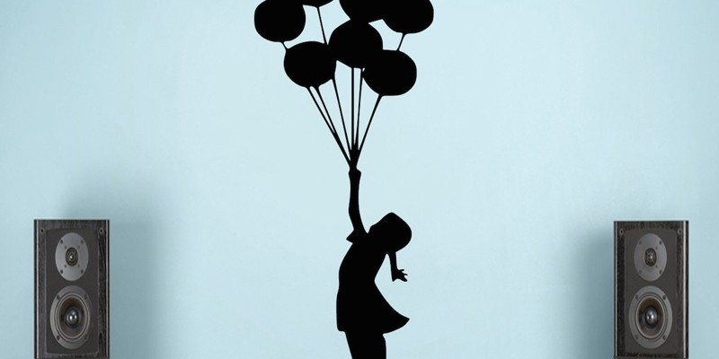 Floating Balloon Wall Sticker