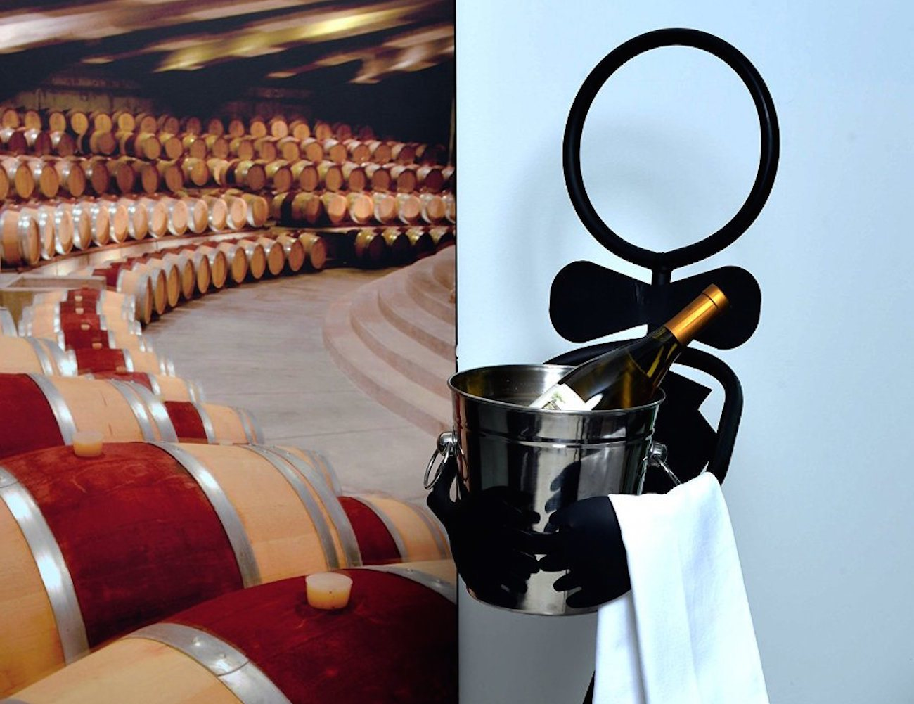 """The Sommelier"" – Wine Ice Bucket Stand with Bucket by Mcarthur"