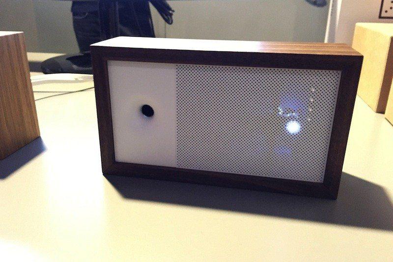 Awair air monitor active with lights