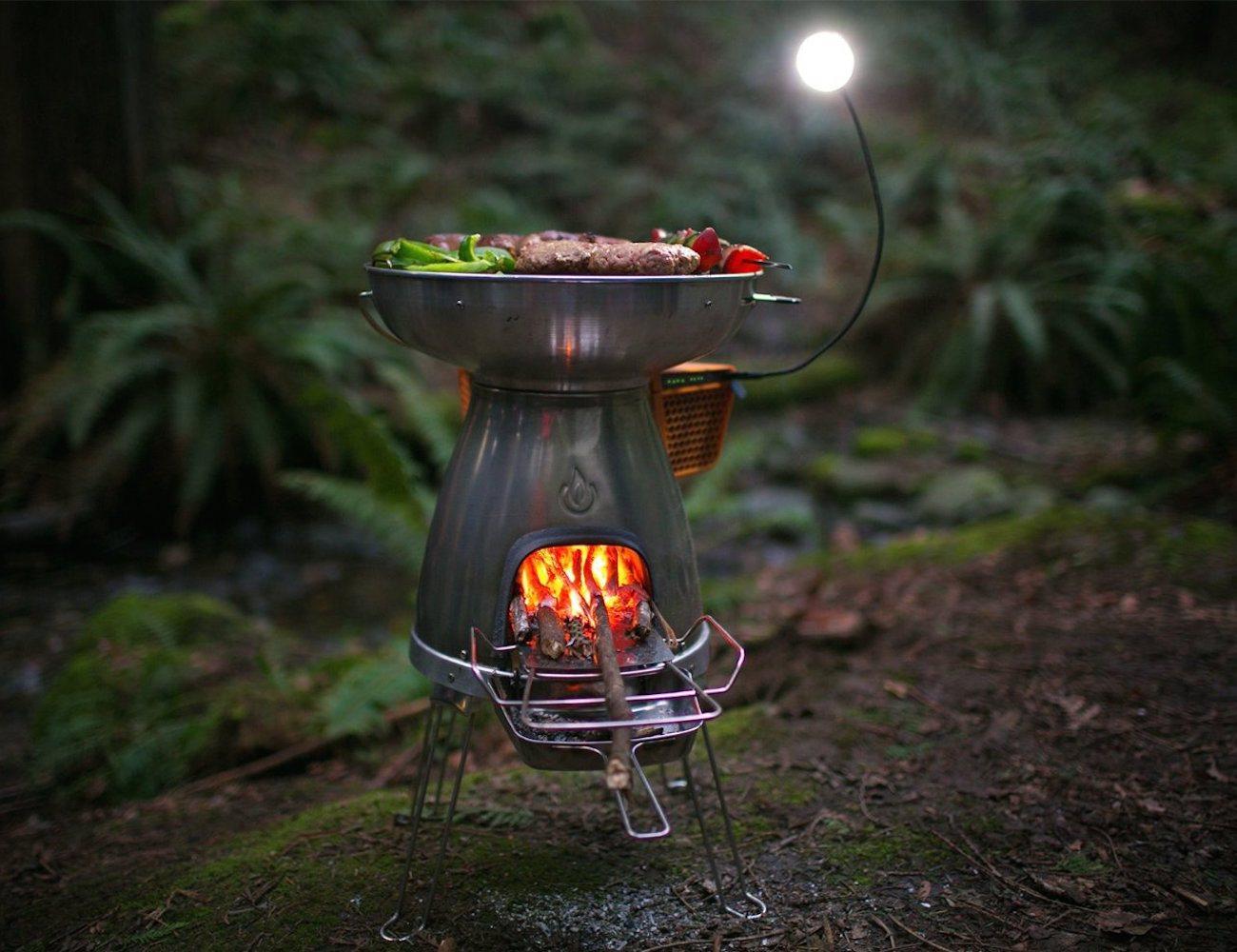 basecamp wood burning stove and grill by biolite review. Black Bedroom Furniture Sets. Home Design Ideas