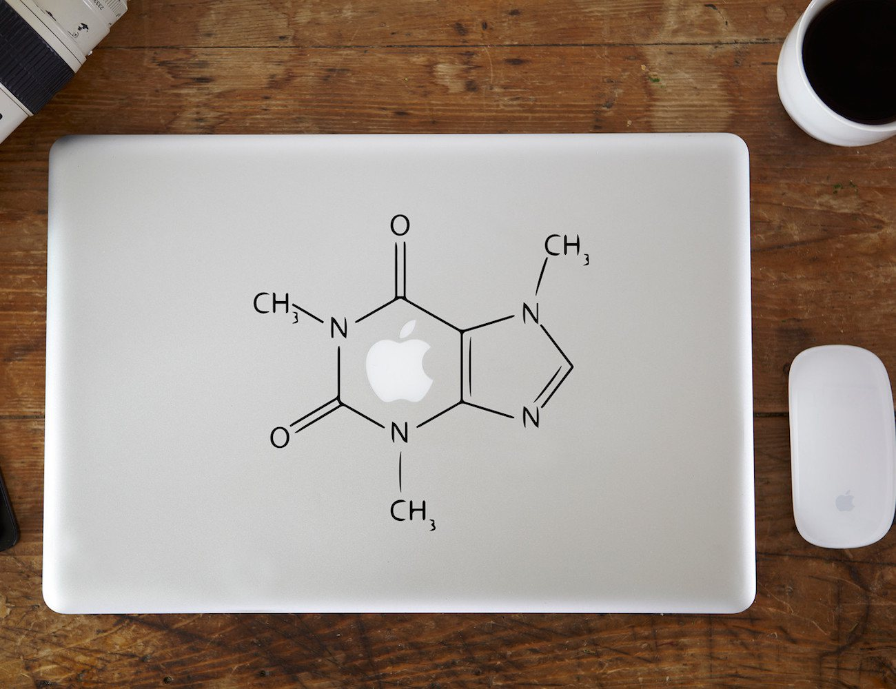 Caffeine Molecular Structure Macbook Decal