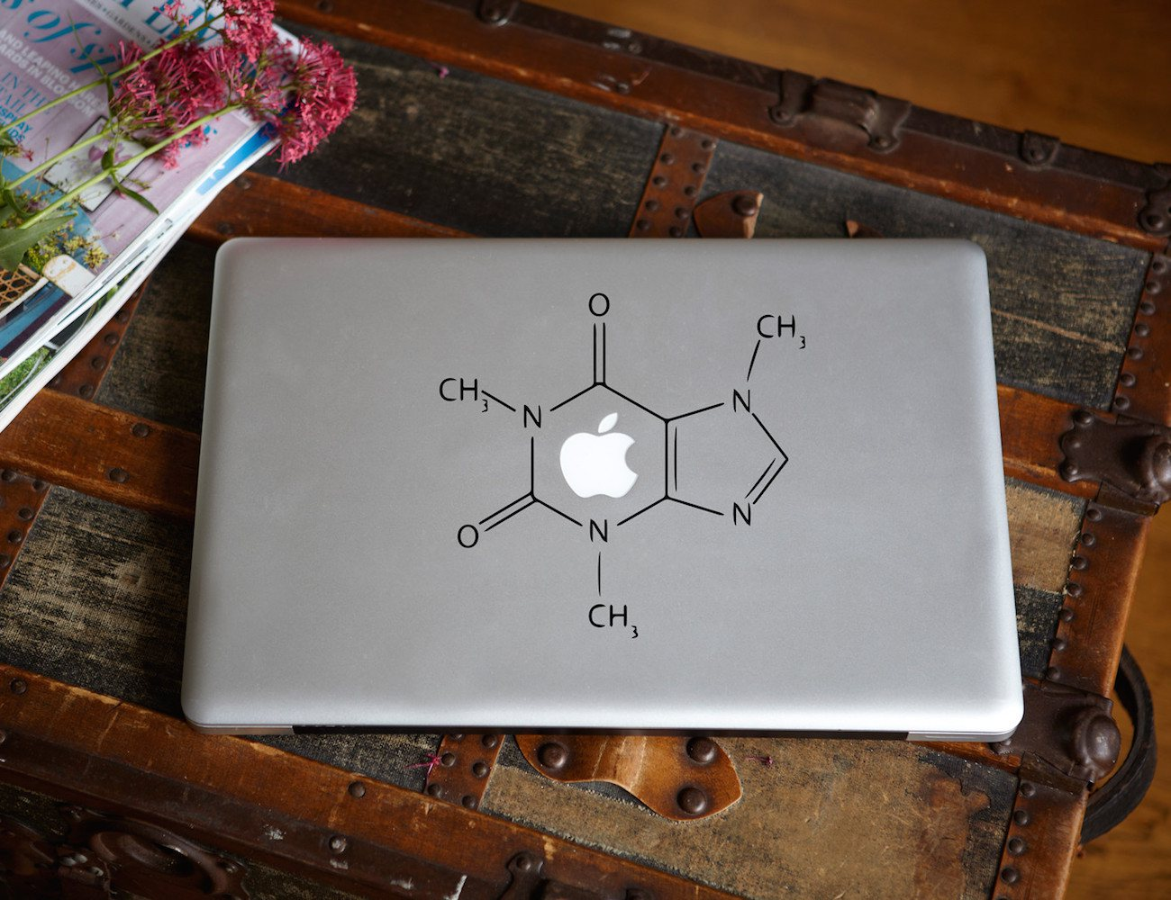 Caffeine Molecular Structure Macbook Decal
