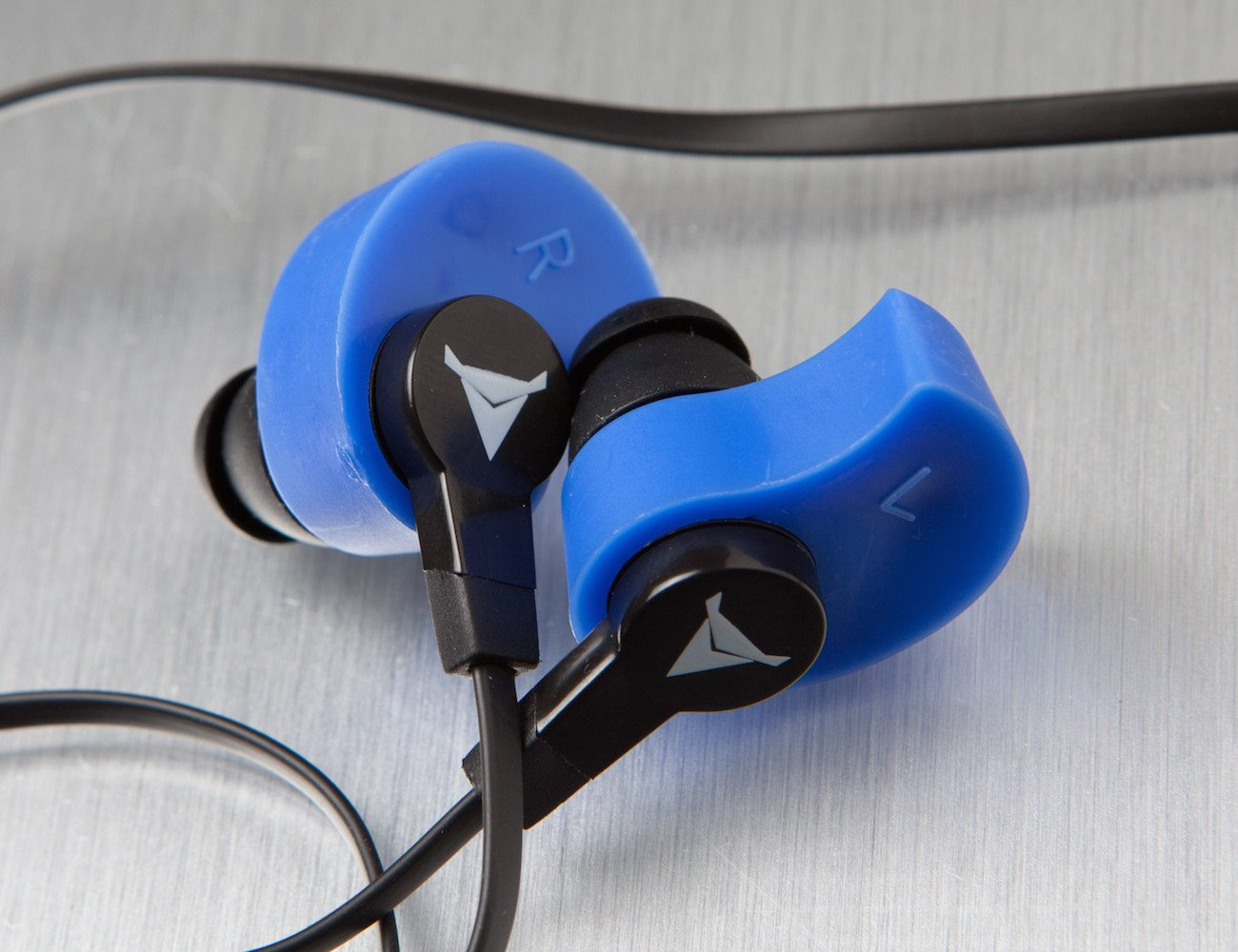 Decibullz Molded Blue Earphones
