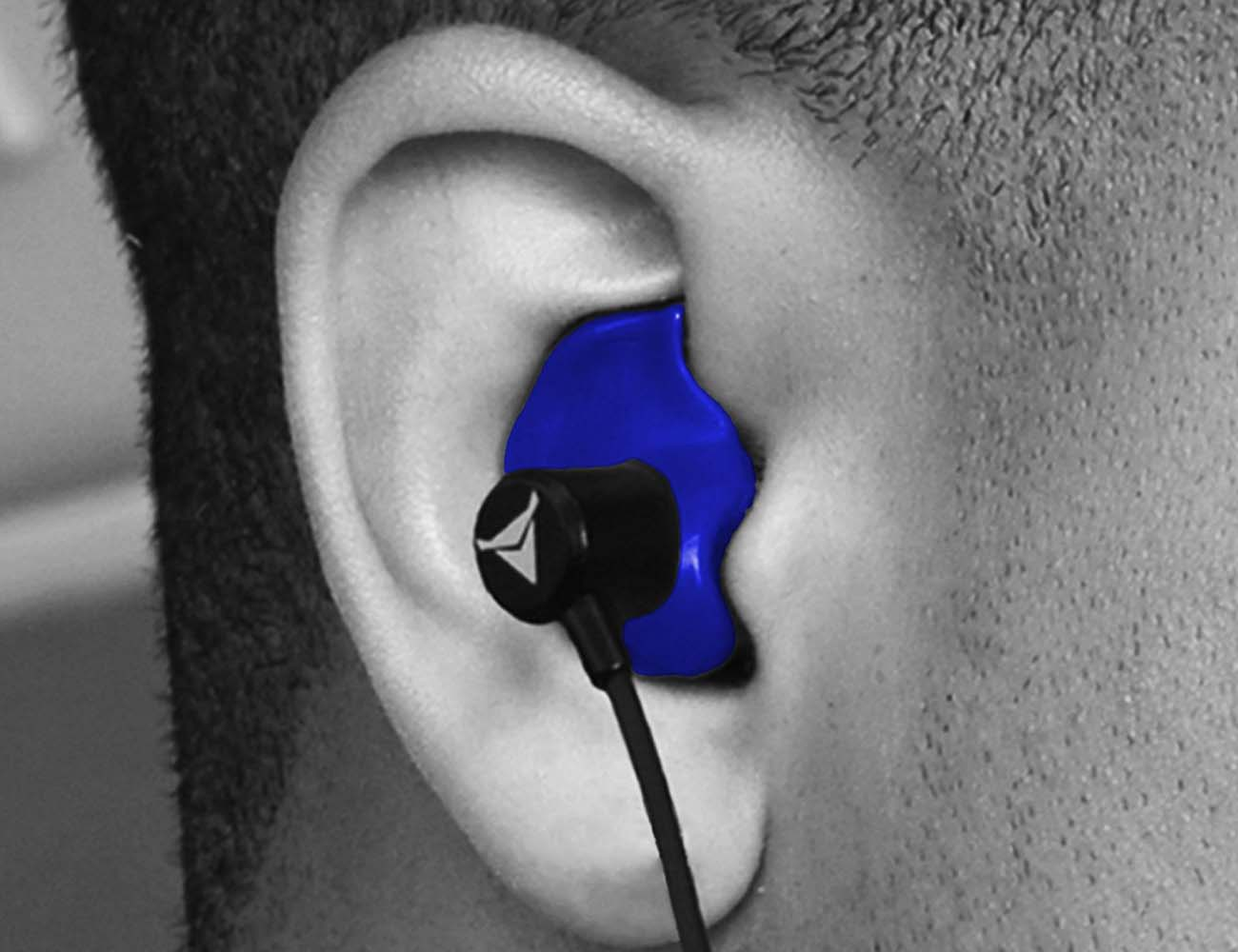 Decibullz Molded Blue Earphones