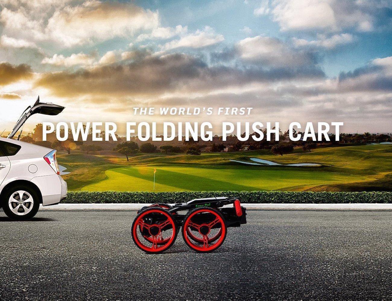 EasyPal by GolferPal Golf – World's First Electric Folding Push Cart