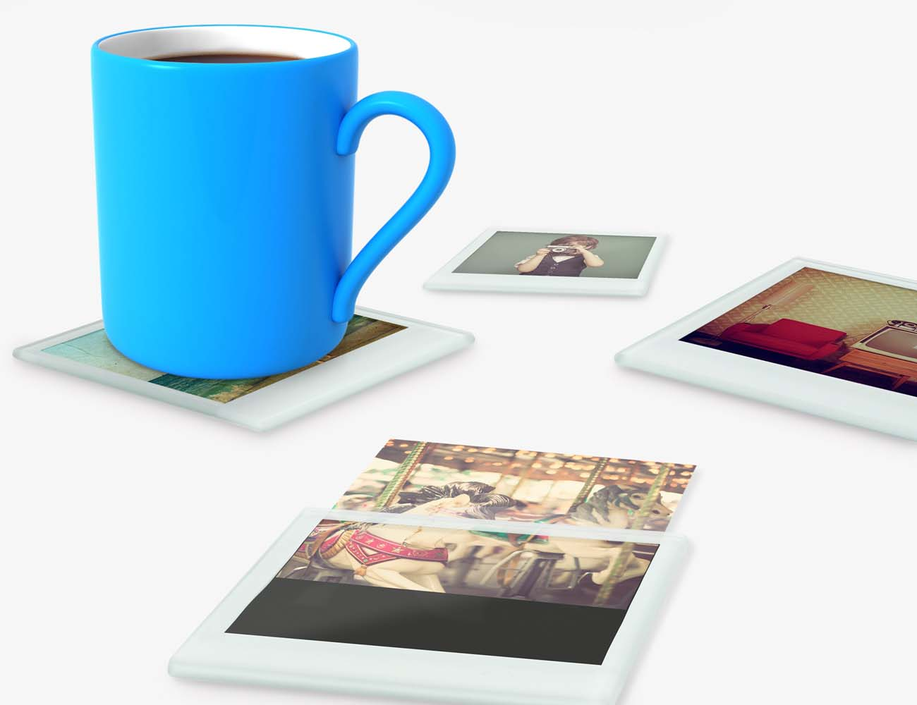 Instant+Photo+Coasters+%26%238211%3B+With+Provision+To+Insert+Your+Photos
