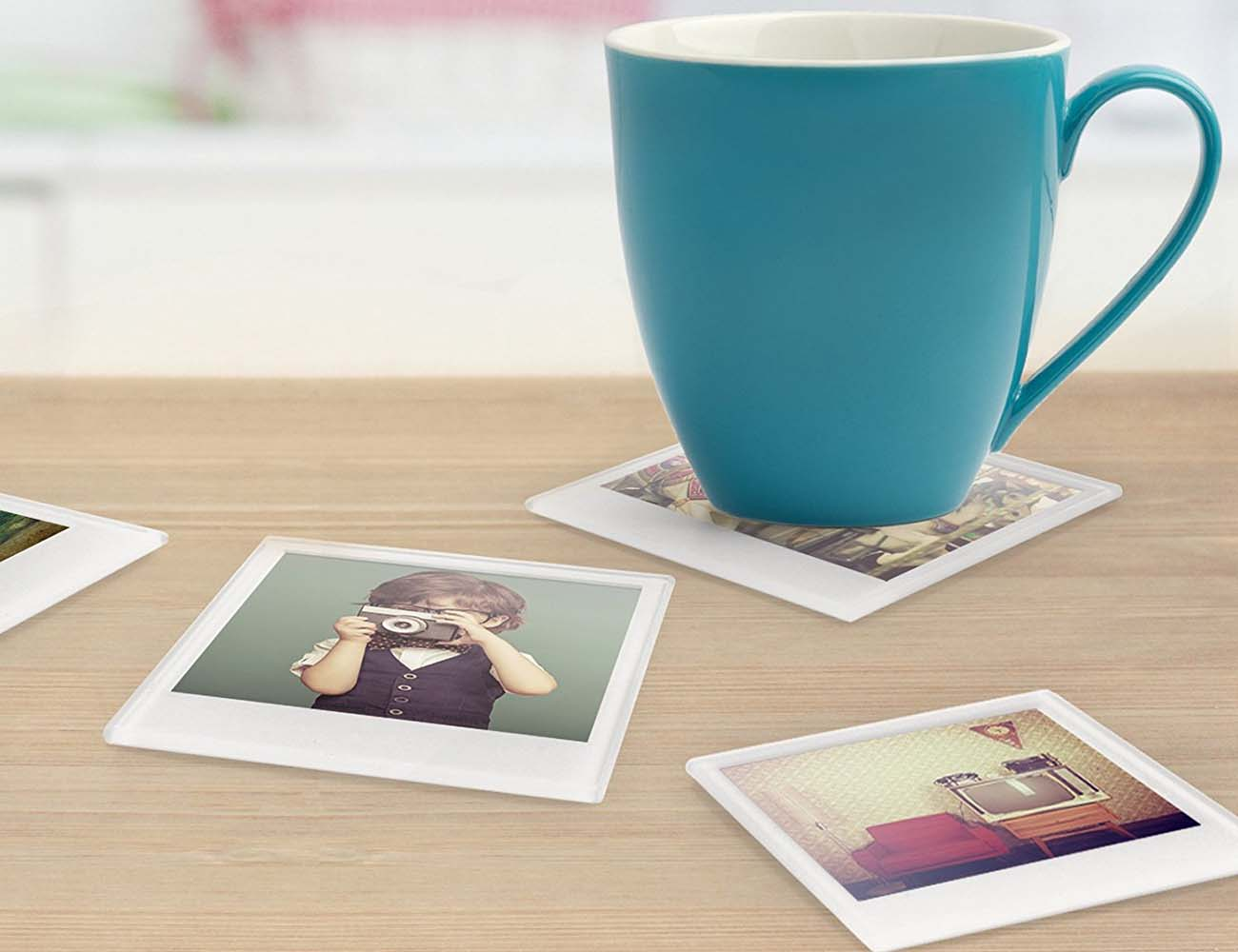 Instant Photo Coasters – With Provision to Insert Your Photos