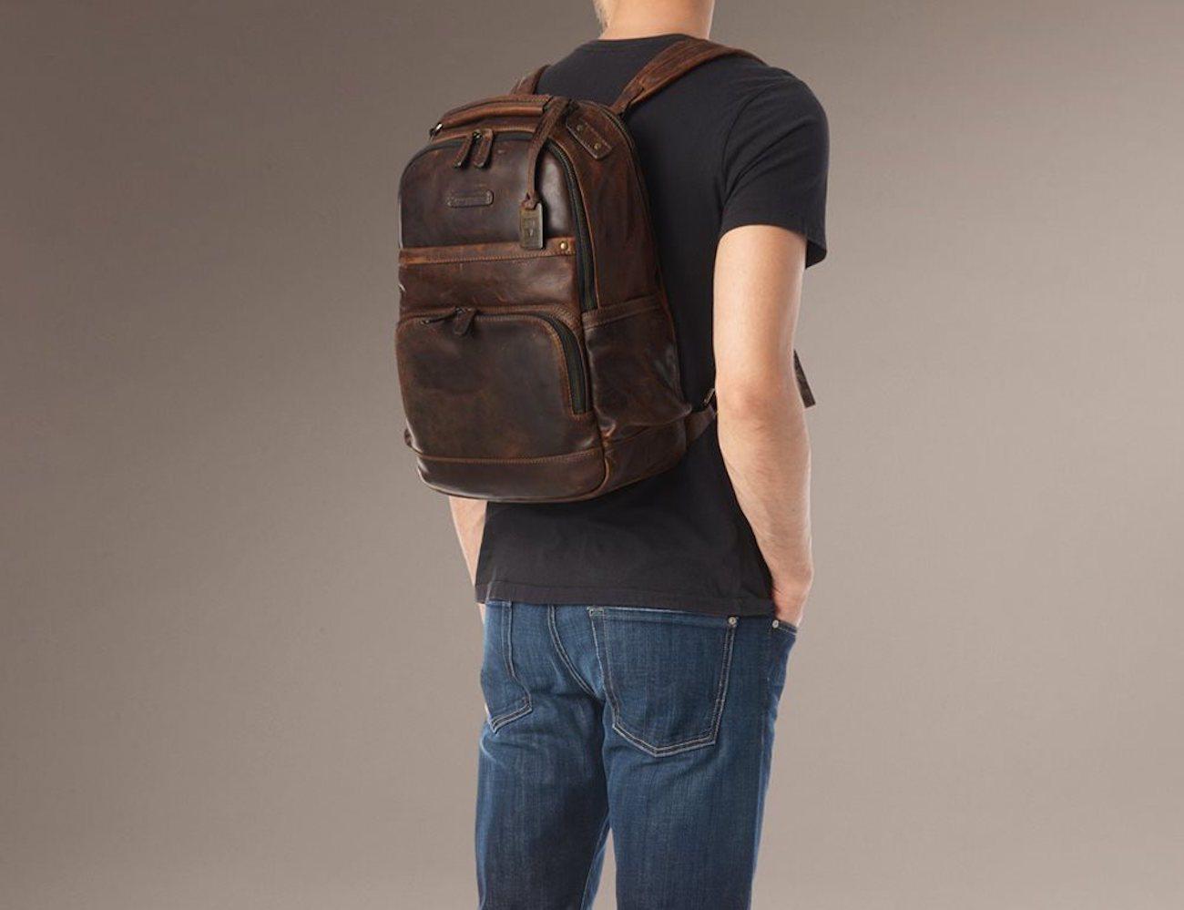 Men's Logan Antique Pull Up Backpack by Frye