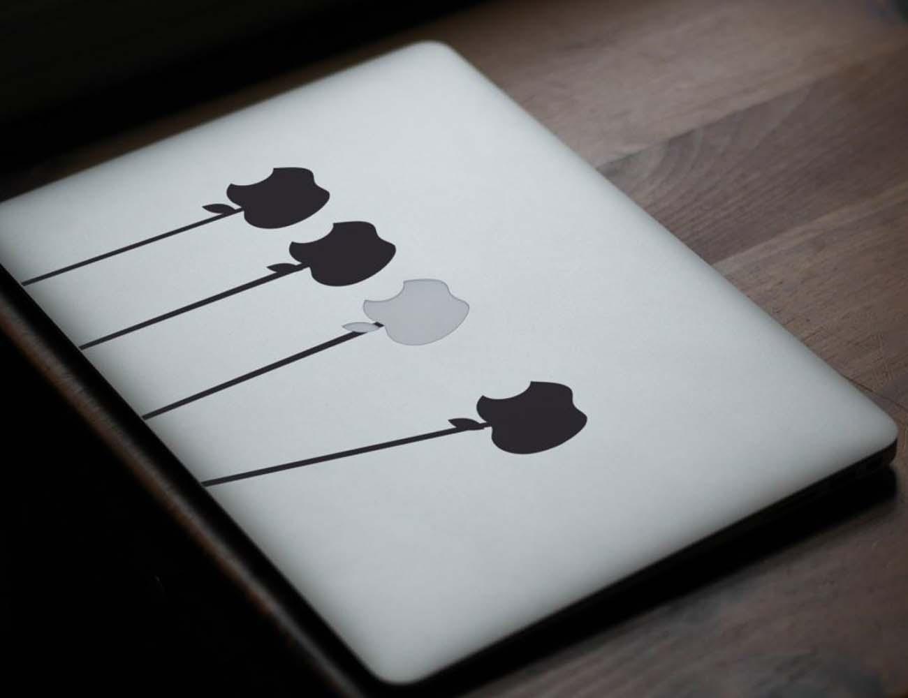 Newton's Cradle Macbook Sticker
