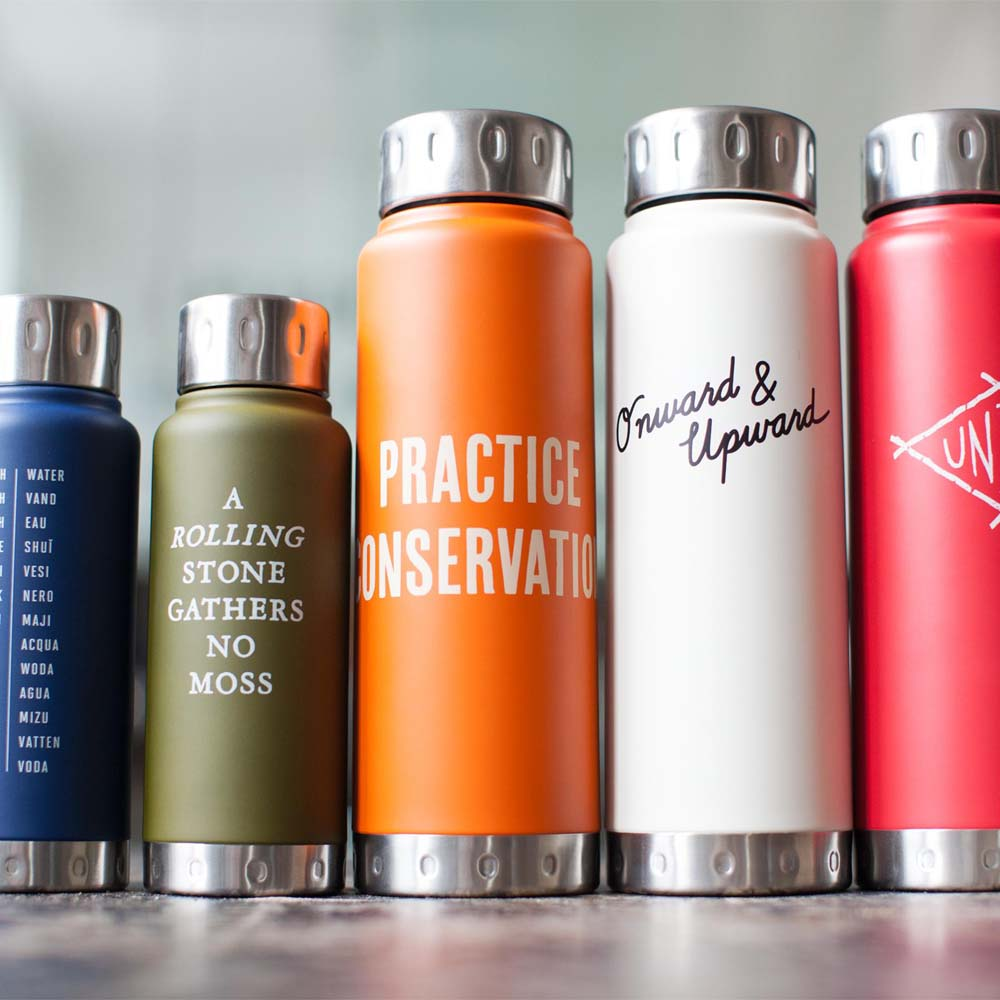 Onward & Upward – Stainless Steel Water Bottle by Izola