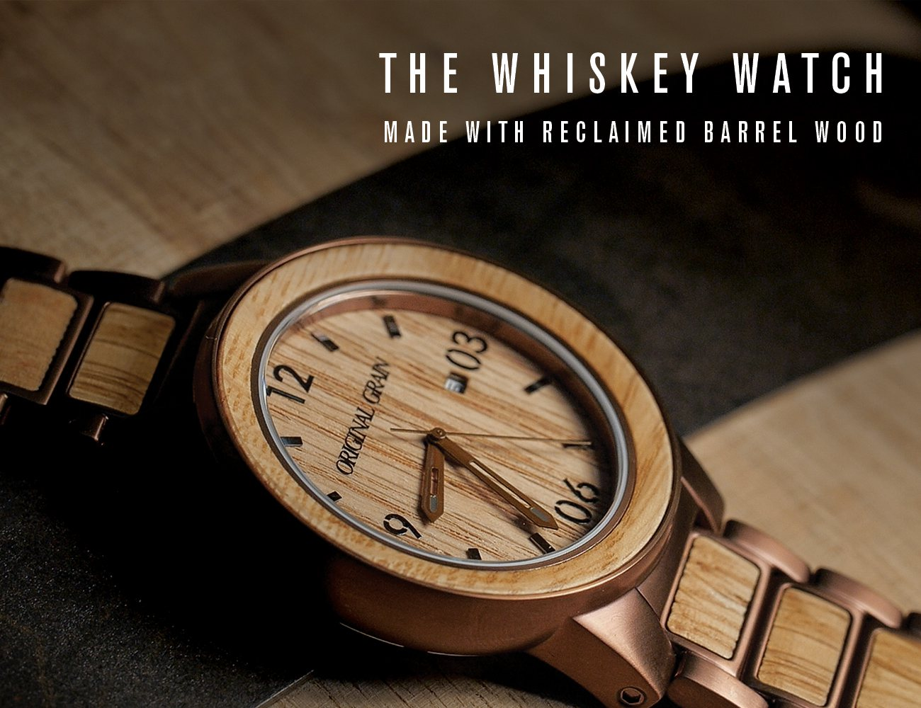 luxury in original mens gold grain watch apple s men new whiskey the w watches itm connection box barrel