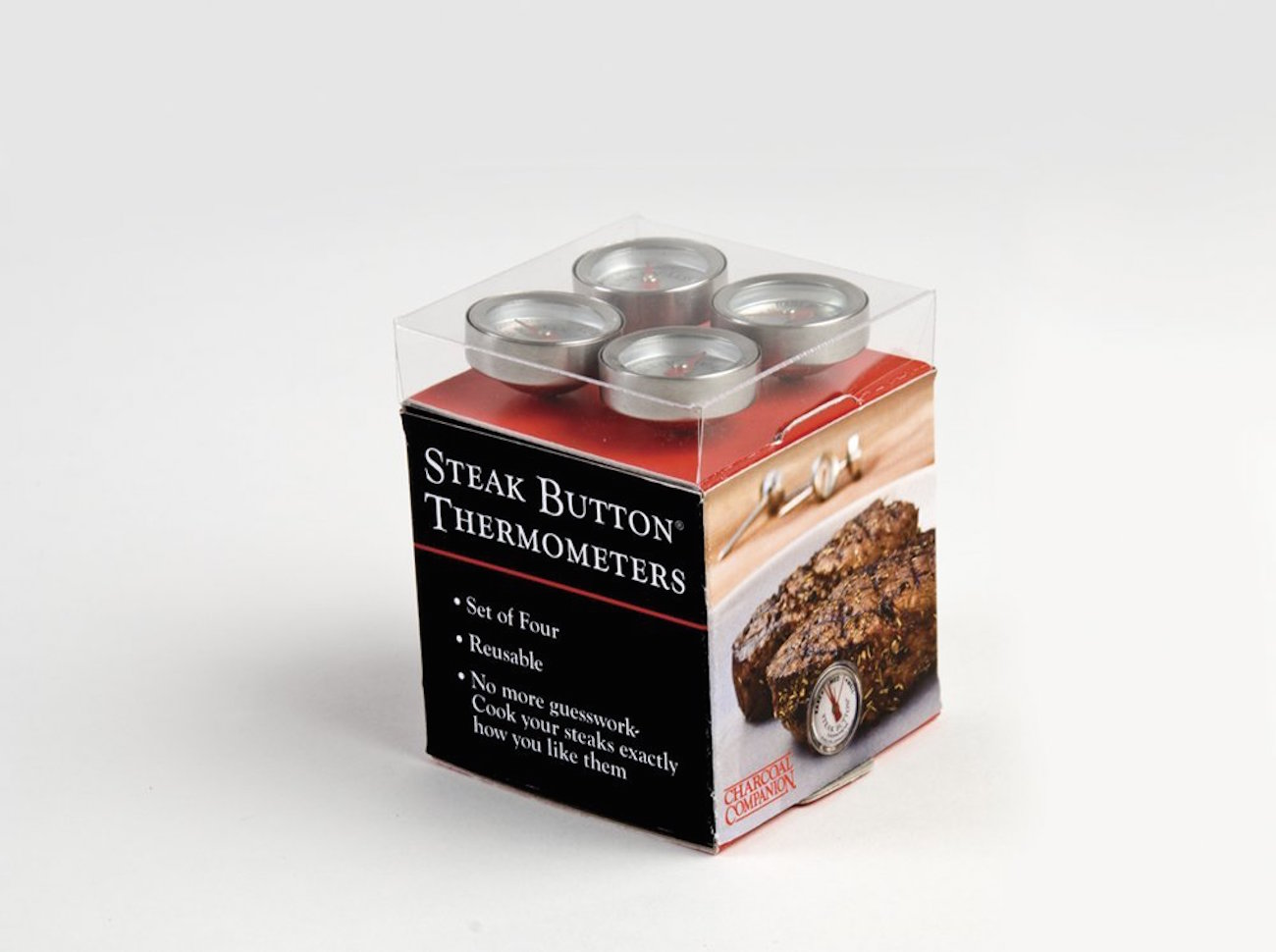 Reusable Steak Button Thermometers by Charcoal Companion