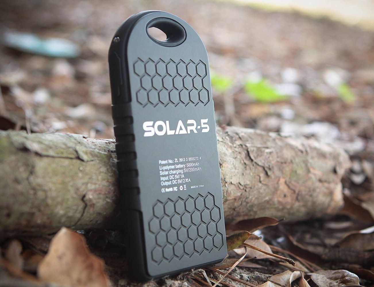 Solar-5 Solar Panel 5000mAh charger by Creative Edge