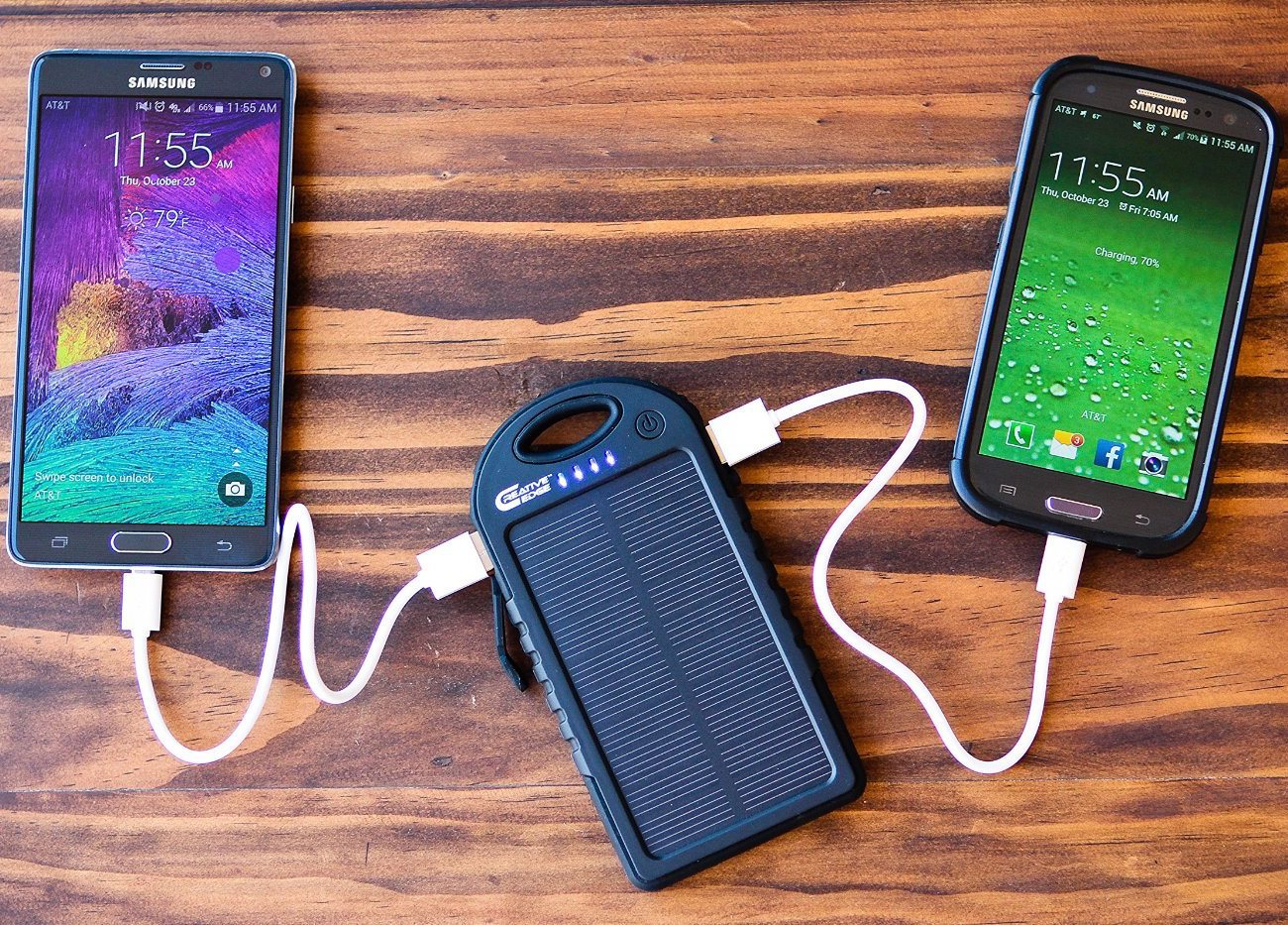 Solar 5 Solar Panel 5000mah Charger By Creative Edge
