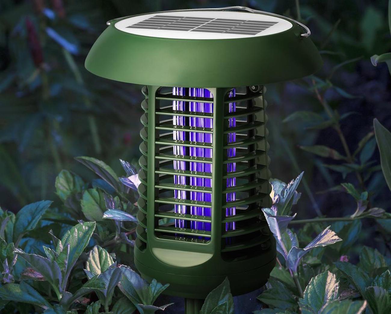 Solar-Powered UV Bug Zapper & LED Garden Lamp