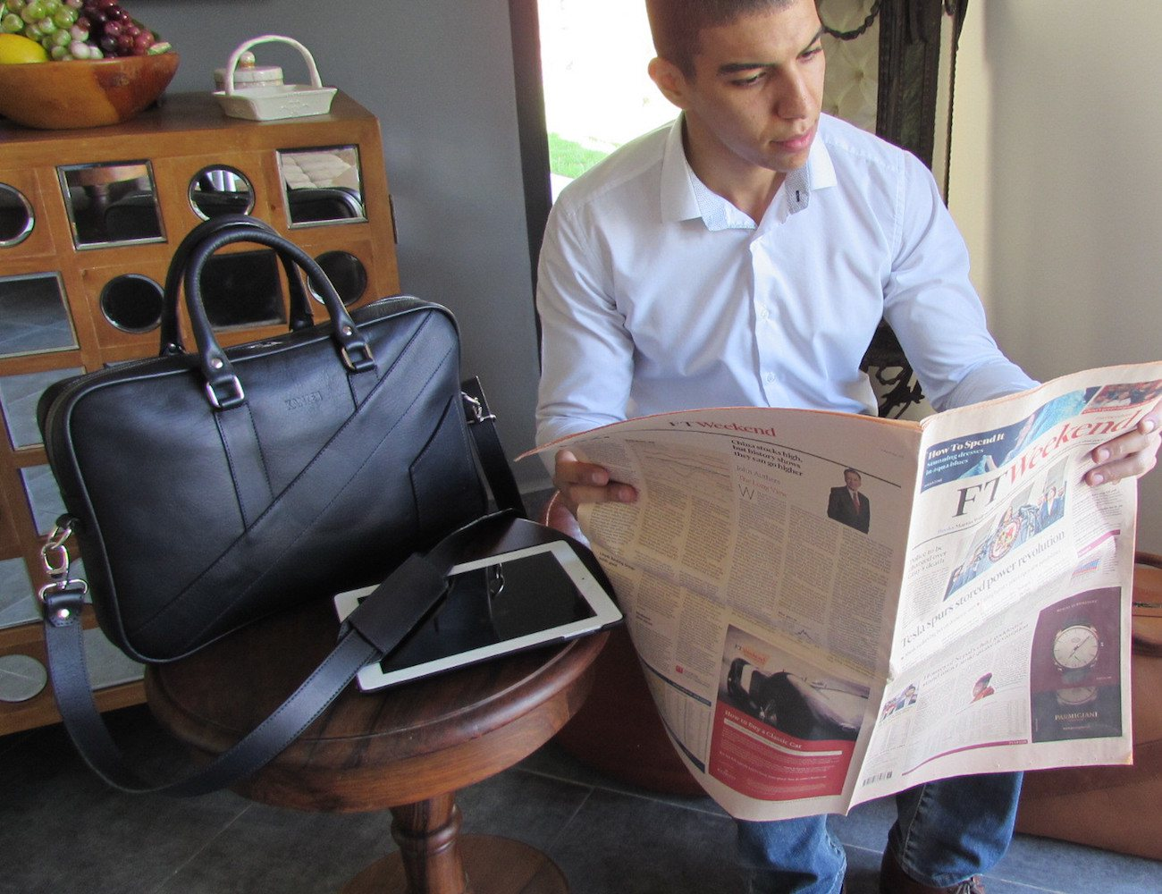 The Dollar Gent Briefcase – Dark Navy Blue