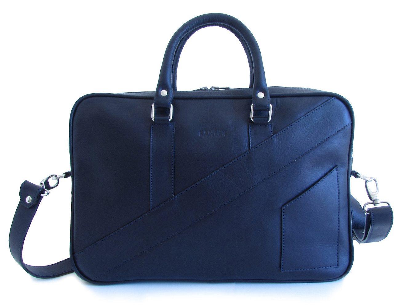 The Dollar Gent Briefcase – Dark Navy Blue