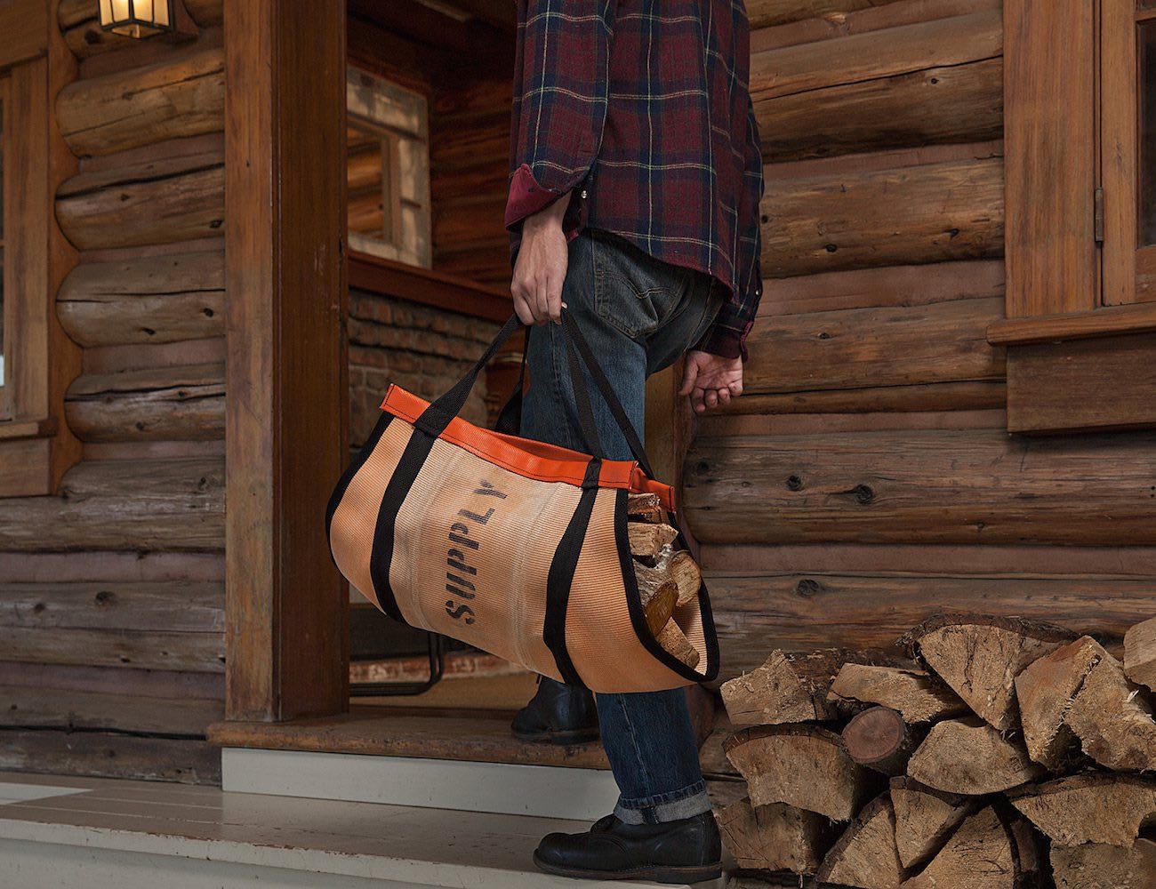 Stack those hefty bundles of wood and carry them smart on these Walsh Firehose Wood Carrier.