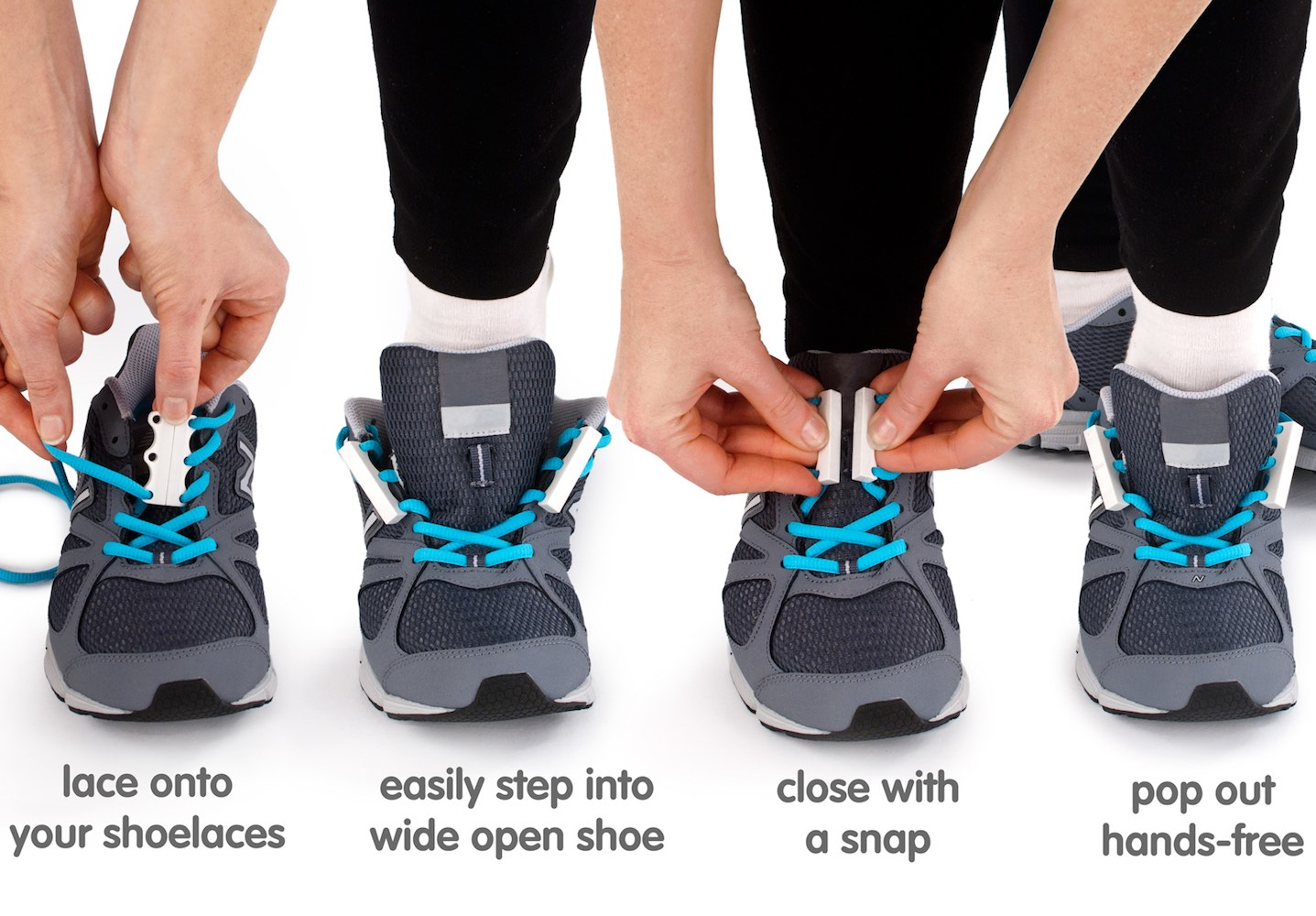 """Zubits Magnetic Shoe Closures – 1 Second Shoe """"Tying"""""""