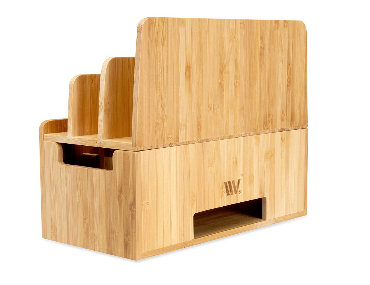 MobileVision Bamboo Charging Stand and Organizer Dock