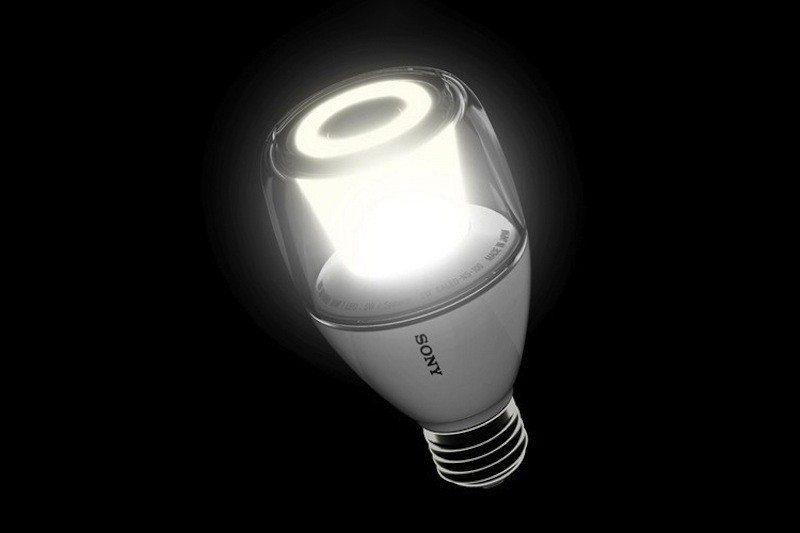 Sony LED bulb live with black background