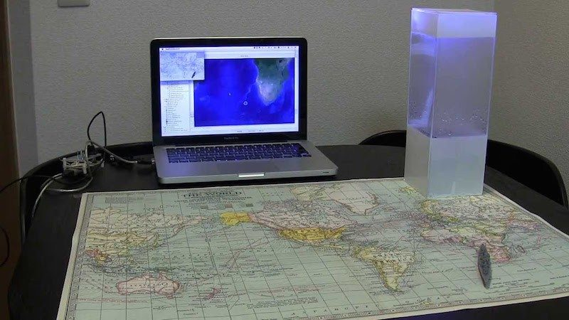 Tempescope with map