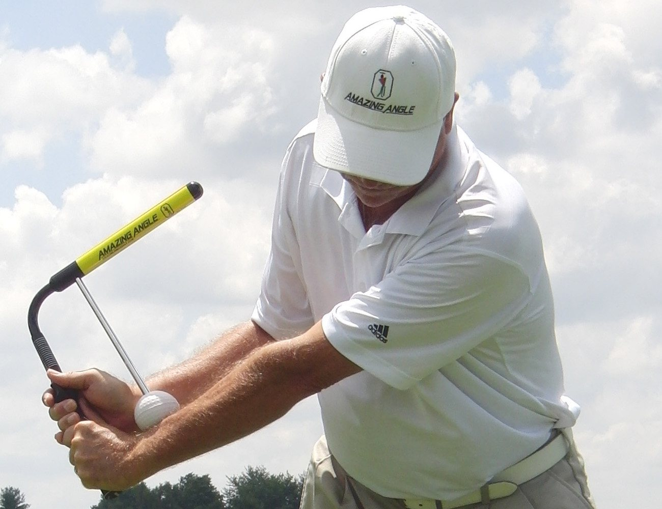 Amazing Angle Golf Swing Training Aid on Professional Teaching Portfolio