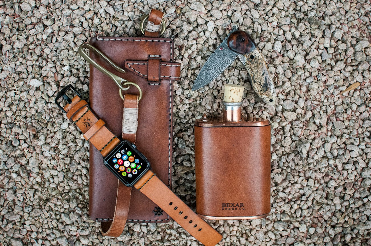 Apple Watch Leather Strap by Bexar Goods Co.