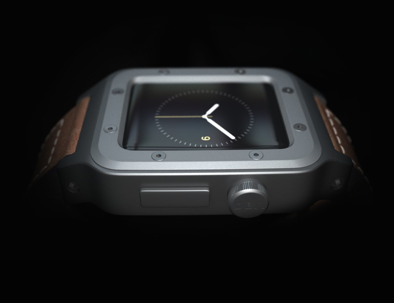 Simple Station Dock and Banded Classic Case for Apple Watch