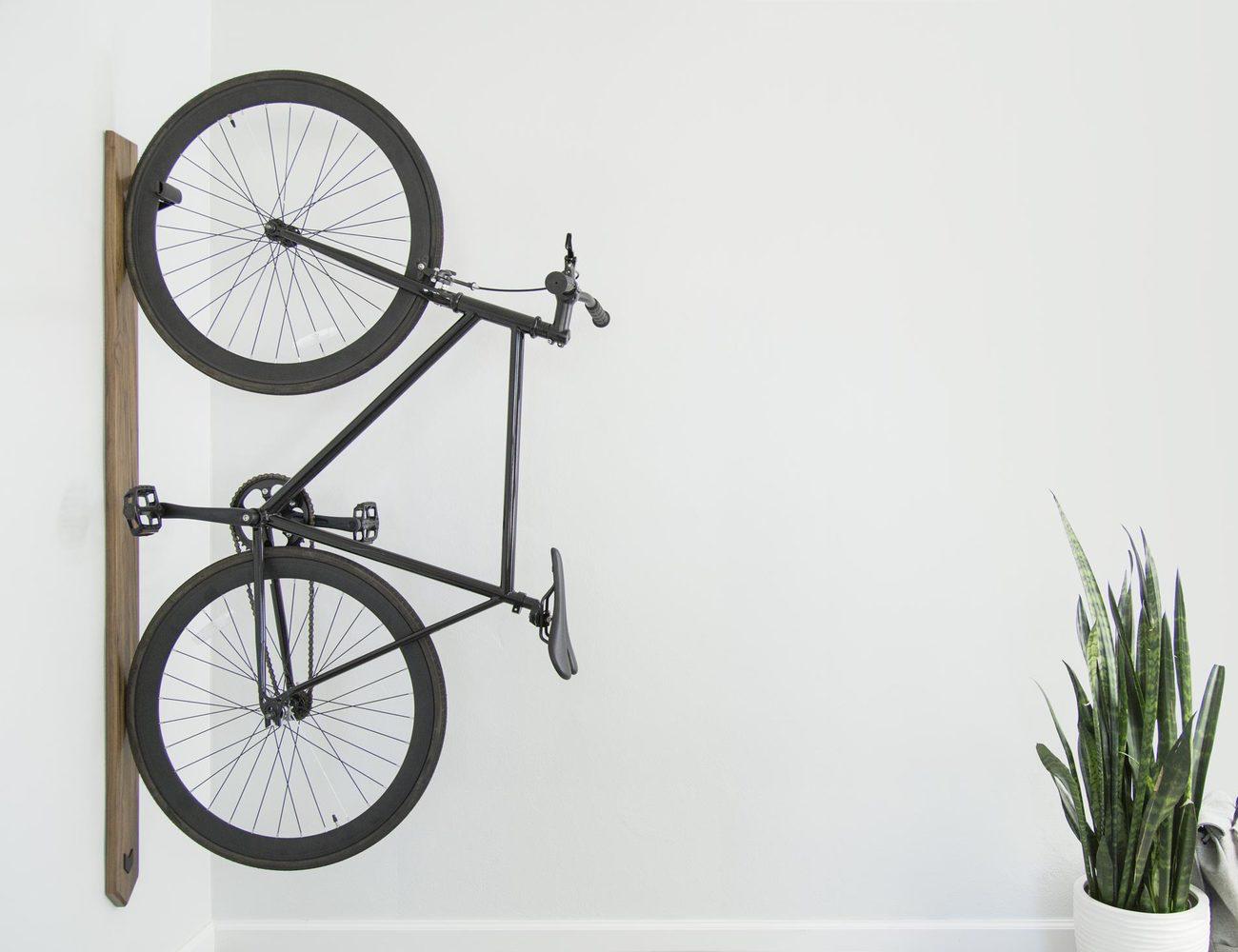 Black Walnut Vertical Bike Rack