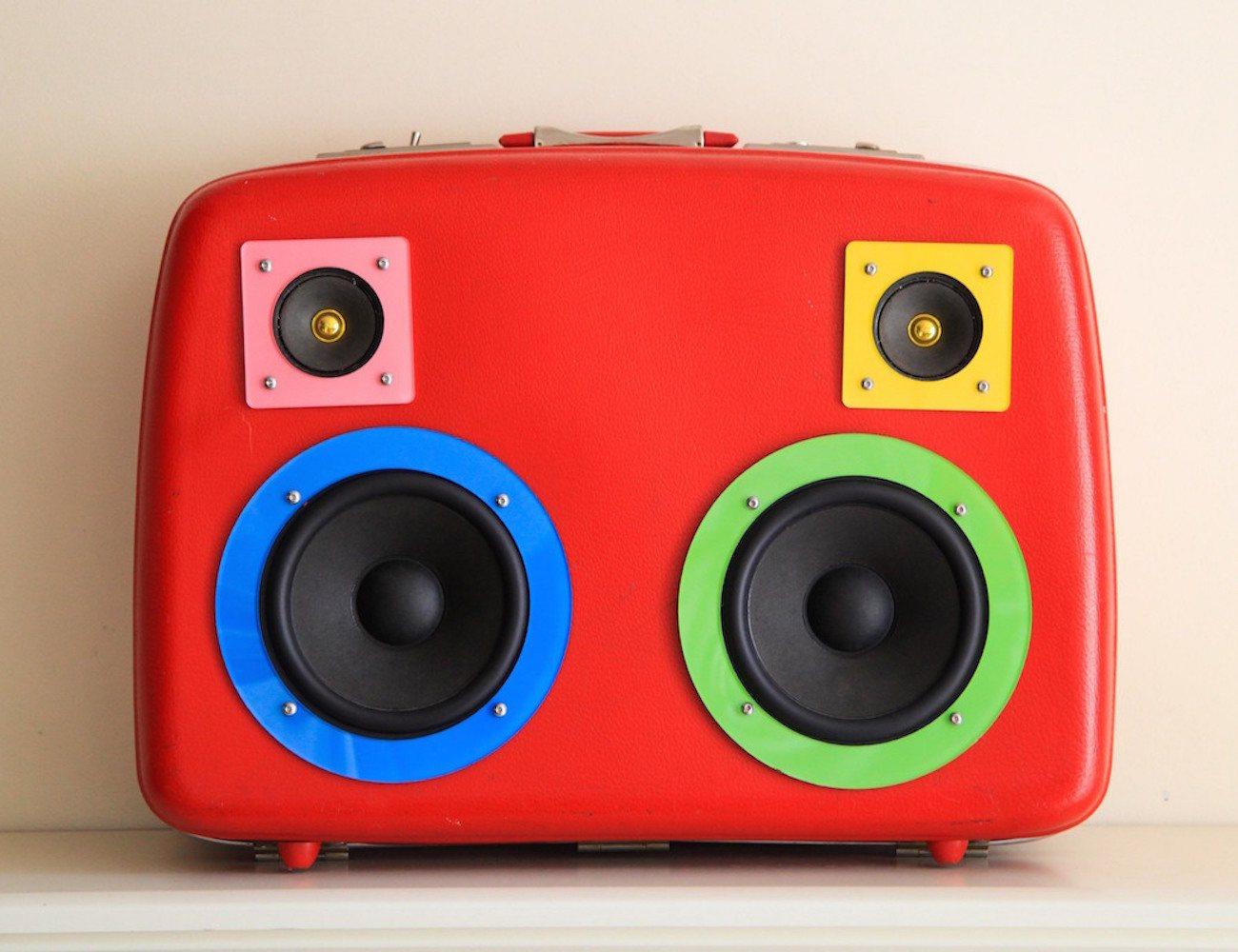 Boombox Music Speaker Suitcase
