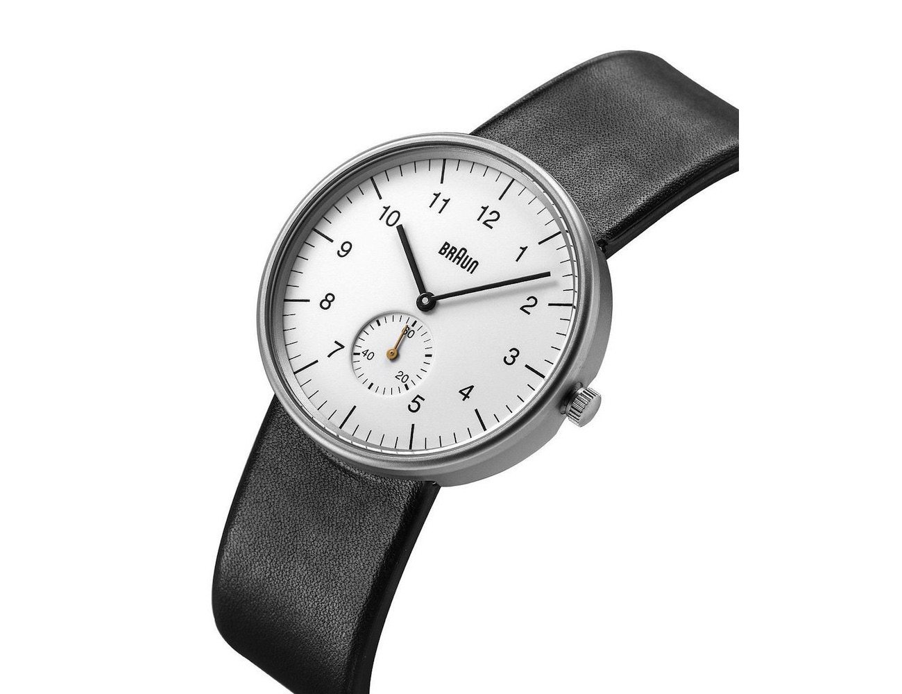 Braun BN0024 Watch – With a Leather Strap and Stainless Steel Case