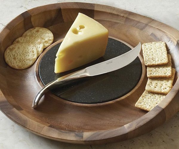 Butterfly Cheese Tray & Knife by Nambé