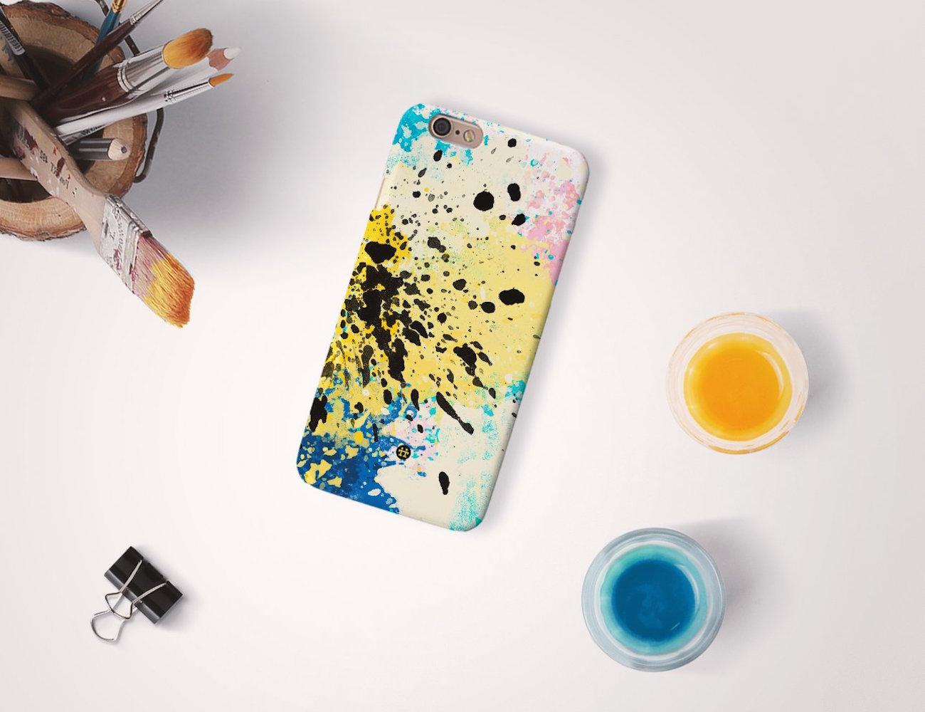 cmyk splash art phone case by madotta gadget flow