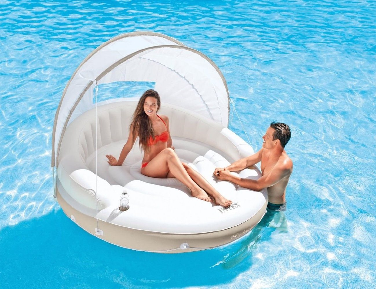 Canopy Island Inflatable Water Lounge Raft by Intex Gad Flow