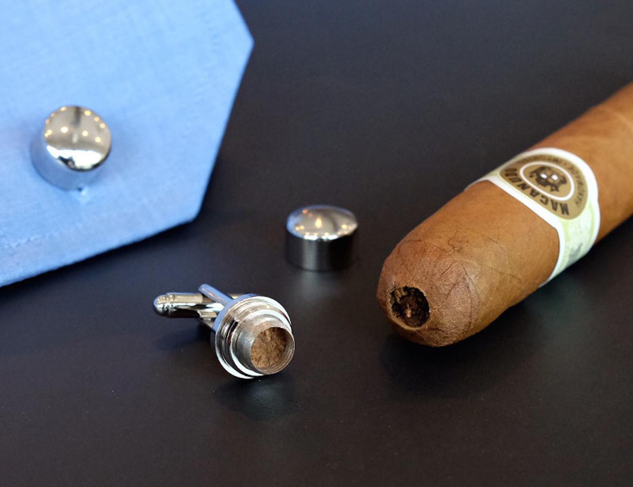 Cigar Punch Cufflinks