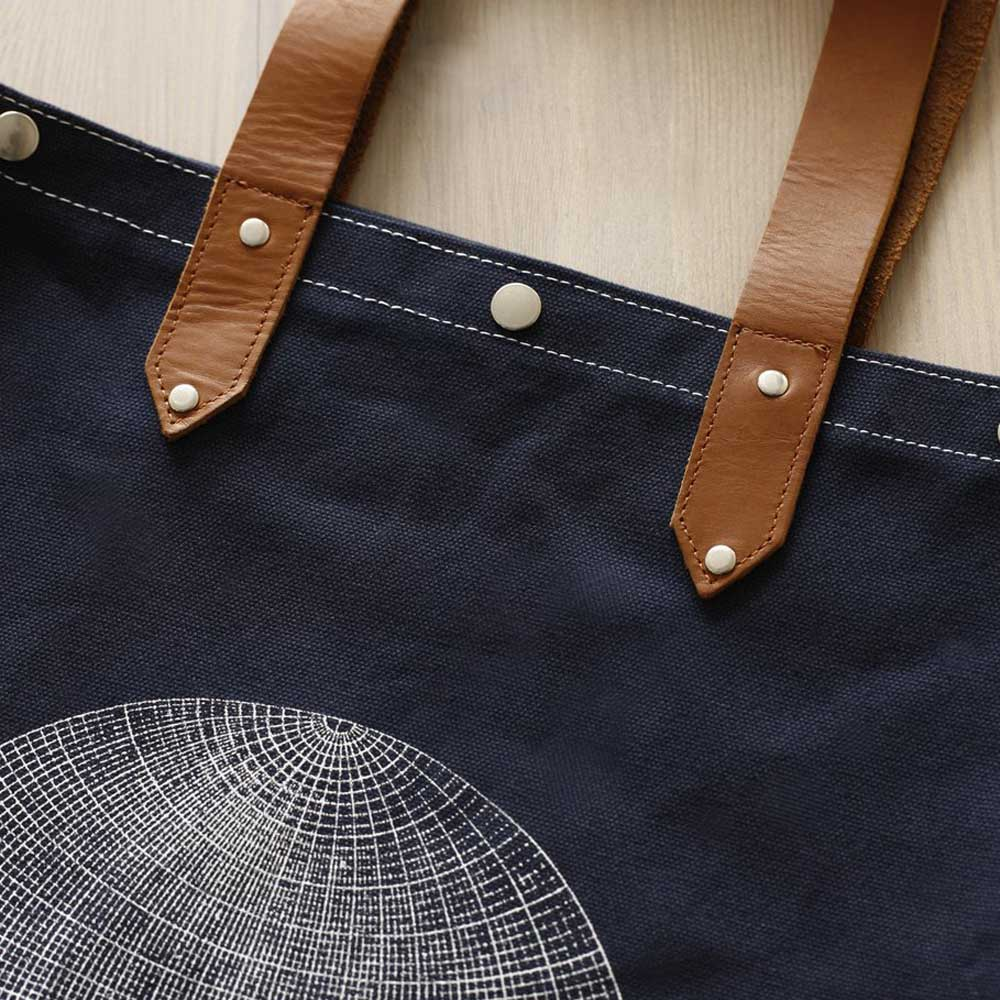 Globe Oversized Carry On Canvas Tote by Pilot and Captain