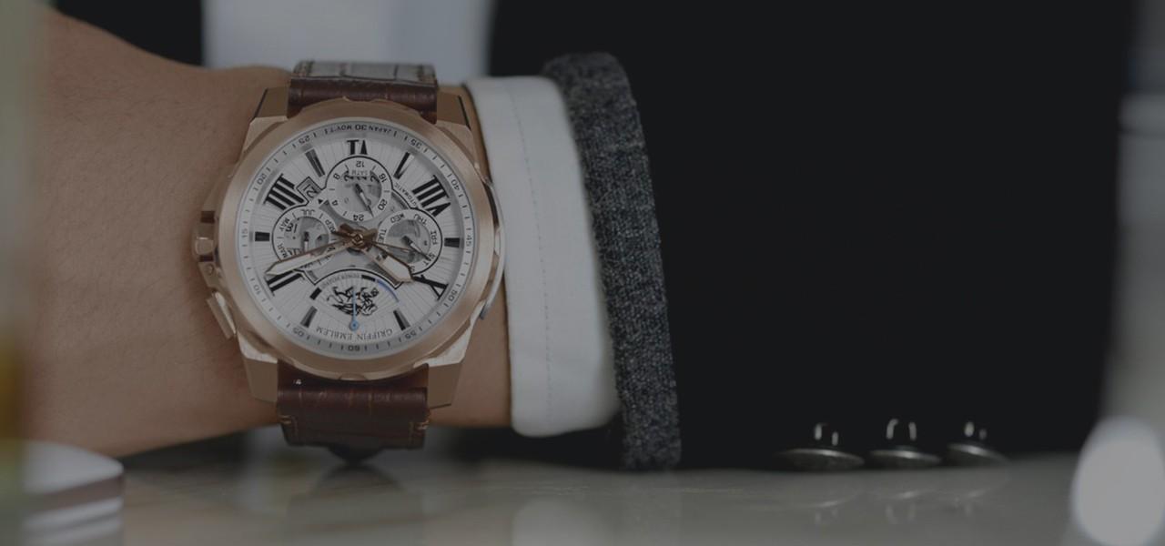 Griffin Emblem Skeleton Watches FP