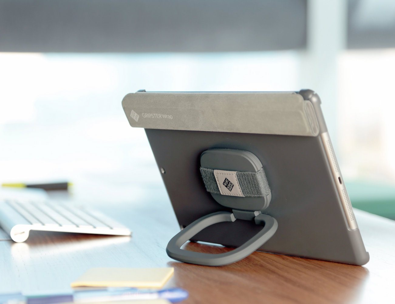 Grip your iPad or iPad Mini safely by using the Gripster Wrap iPad Case