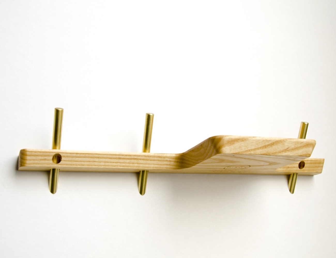 the painted hive shelves and wall shelf acrylic brass