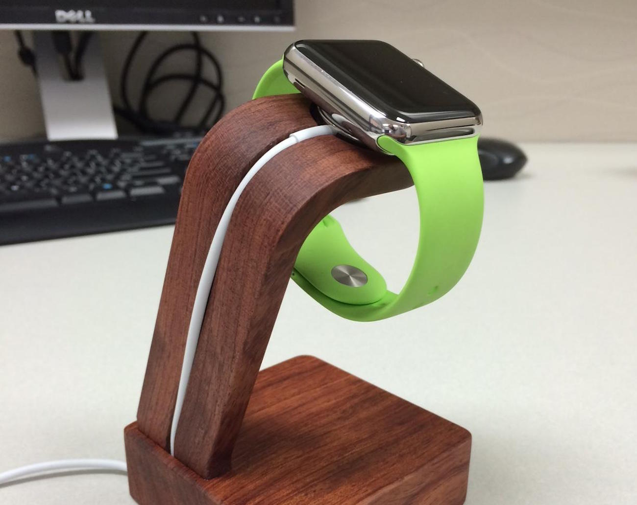 Navitech+%26%238211%3B+Apple+Watch+Wood+Oak+Charging+Dock